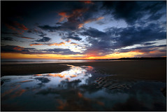 A tale of weather! (opobs) Tags: sunset sky beach water southwales wales seaside sand rocks july pebbles canon5d gitzo ogmore valeofglamorgan 2010 bridgend anglefinder ogmorebysea 1740mml wetknees ogmorebeach opobs cokinxpro traethogwr michaeljstokesawpf