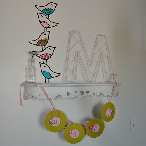 stacked birds painted vinyl decal