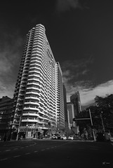 Verticals (fischstarr) Tags: street city bw nikon apartment sigma oxford block 1020mm polarizer streetscape syndey verticals converging wpm d40x singhrayfilters