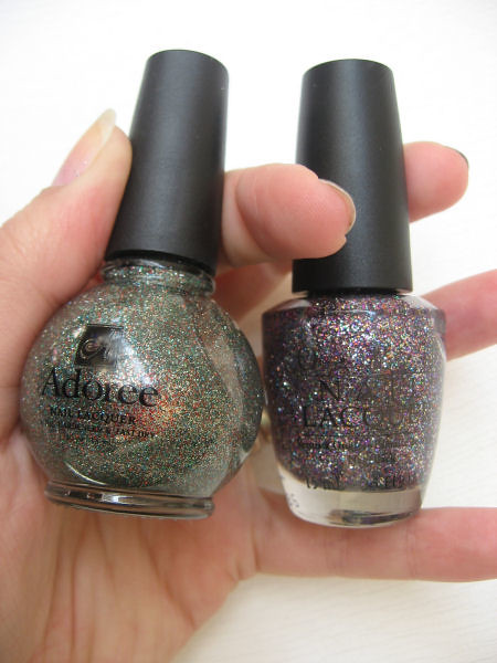 adoree vs opi glitter1