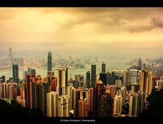 Hong Kong (shakerk) Tags: from tower buildings hongkong high downtown view dynamic harbour dramatic peak victoria hong kong highrise kowloon range hdr cloudscapes peaktower hongkongpeaktower