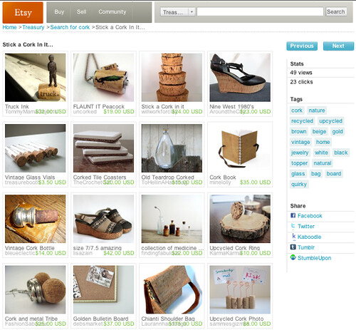 first etsy treasury feature...
