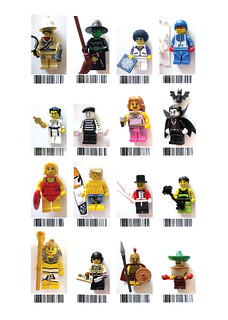Collectable Minifig Series 2 - Euro barcodes
