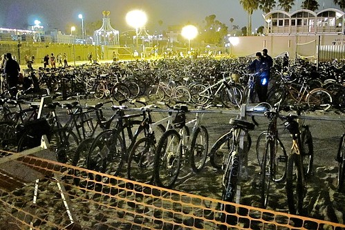 Santa Monica Twlight Dance Series, Massive Bike Valet Parking