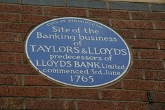 Photo of Taylors & Lloyds blue plaque