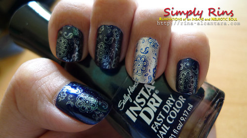 Nail Art Blazing Blue 02