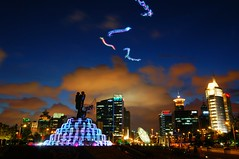 Shanghai - Century Avenue (cnmark) Tags: china blue light sky kite fountain night clouds century buildings square geotagged noche moving colorful shanghai nacht dusk trails kites illuminated led hour noite   pudong avenue nuit gebude notte nachtaufnahme  allrightsreserved    geo:lon=12153649 tripleniceshot mygearandmepremium mygearandmebronze mygearandmesilver mygearandmegold mygearandmeplatinum geo:lat=31223073 aboveandbeyondlevel1 aboveandbeyondlevel2 aboveandbeyondlevel3