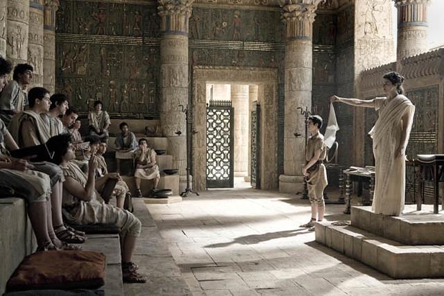 Rachel Weisz (far right) is the controversial woman teacher Hypatia in 'Agora'.