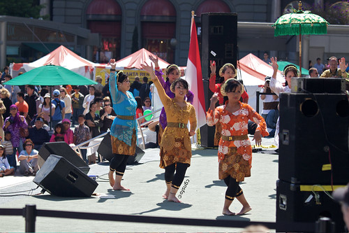 Indonesia Day, Union Square, female dancer group