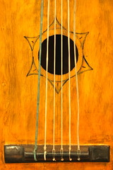 Cuban guitar (kevin dooley) Tags: wood bridge arizona music sun david phoenix museum canon 50mm star design wooden hole guitar 14 cuba az musical instrument acoustic string strings cuban mim phx acousticguitar sixstring guitarbridge musicalinstrumentmuseum 40d gutstrings woodenguitar woodguitar cubanguitar guitarhole