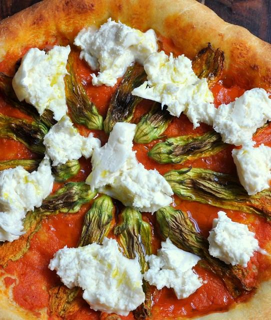 4851457880 503ba7a566 z Squash Blossom and Burrata Pizza  Starting August Off Right