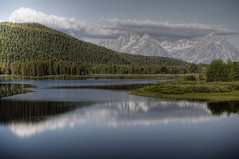 OxBow Bend (Eric Vondy) Tags: lake mountains water clouds forest river wyoming grandtetons grandtetonnationalpark oxbowbend