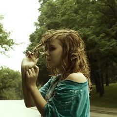 (yyellowbird) Tags: morning selfportrait girl hair square pull rainy cari