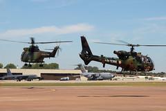 Armee de Terre - Puma & Gazelle (eigjb) Tags: french army aircraft military airshow helicopter boeing puma gazelle usaf raf usairforce 2010 airbase ffd fairford riat aerospatiale c17a b52h globemasteriii armeedeterre egva sa342l sa330b 610039 000172 1190dda 4210gef