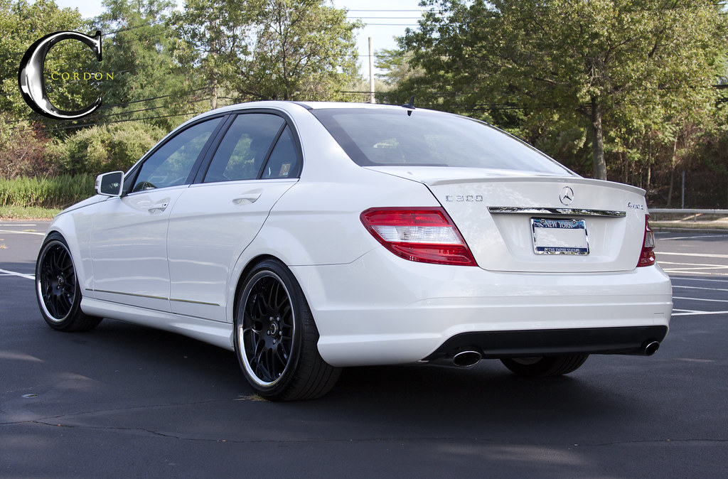 White C300 With New Cordon Wheels