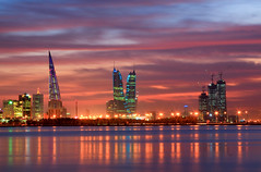Bahrain night sky (Helminadia Ranford) Tags: city light sunset night bahrain view cloudy dusk east arab arabia middle manama