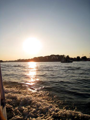 Ferry ride across Sava - Belgrade
