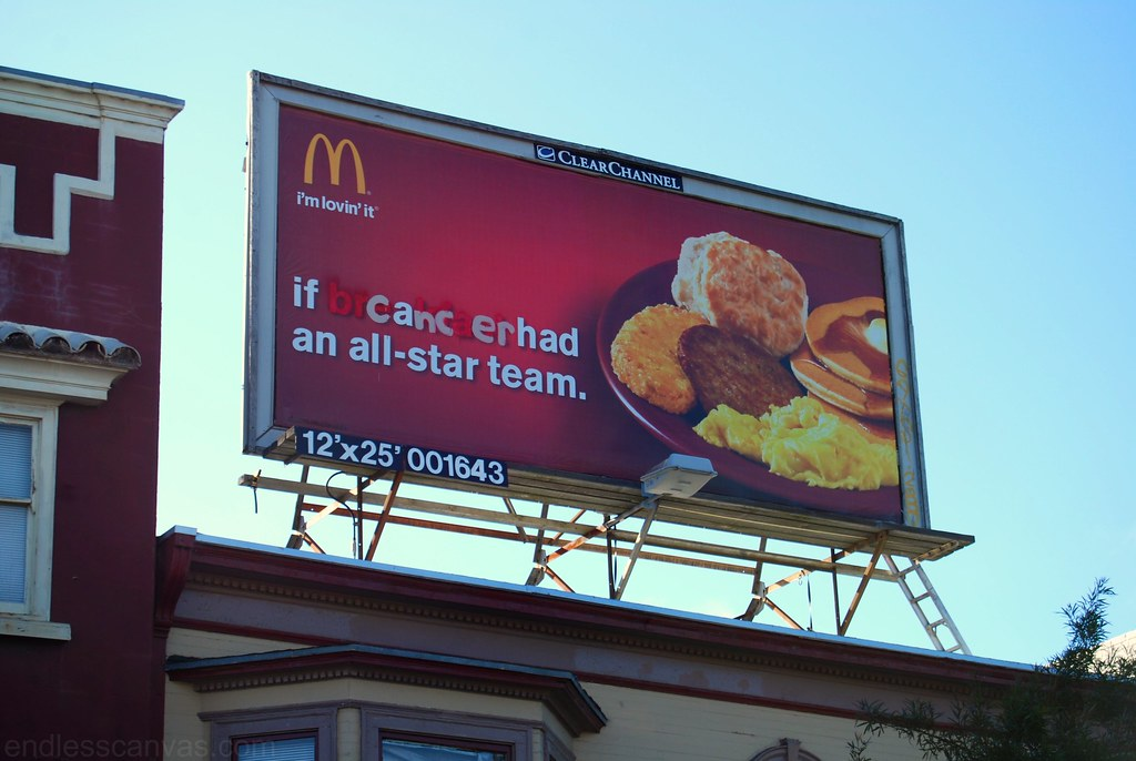 Modified McDonalds Billboard Berkeley CA.