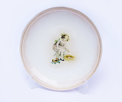 "Plate ""Girl with a duck toy"""