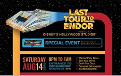 Last Tour to Endor at Disney's Hollywood Studios August 14 (partyhare) Tags: starwars disney event disneyworld wdw waltdisneyworld dhs endor august14 starspeeder disneyshollywoodstudios starwarscelebrationv lasttourtoendor