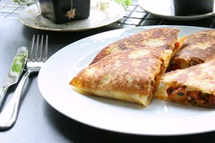 Yummy chorizo quesadilla