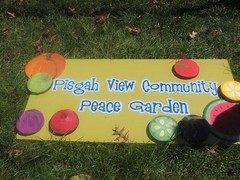A sign for the Peace Garden (by: PVCPG)