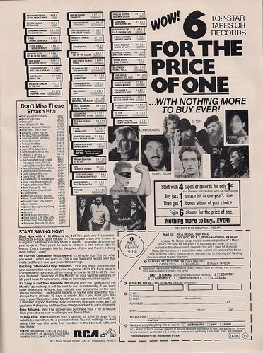 June 1985 RCA Music Club Ad