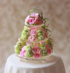 Dollhouse Miniature 1/12 Scale Macaron Wedding Display