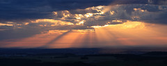 there is magic in the air... (Alexandre Kundun) Tags: sky cloud sun soleil ciel valley notre dame nuage etang ouche