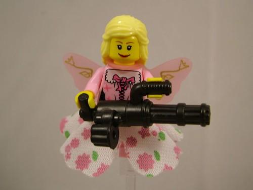 Princess Minigun custom minifig