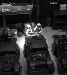 The Security Cam pics (Dudesnbots) Tags: toys cobra joe transformers diorama gi autobot decepticon