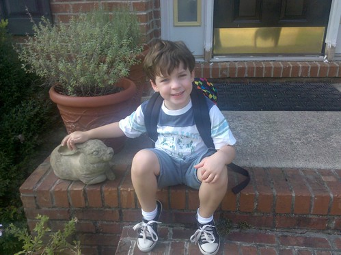 Eli's first day of preschool