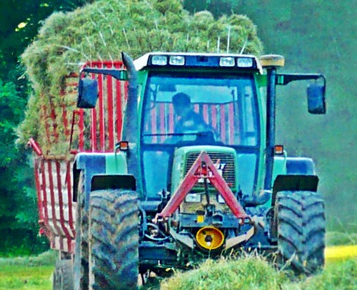 """Fendt Favorit    512 C""  Traktor + Pöttinger Ladewagen"