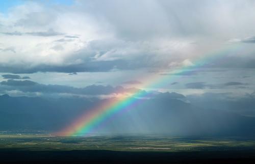 フリー写真素材, 自然・風景, 虹, 空,
