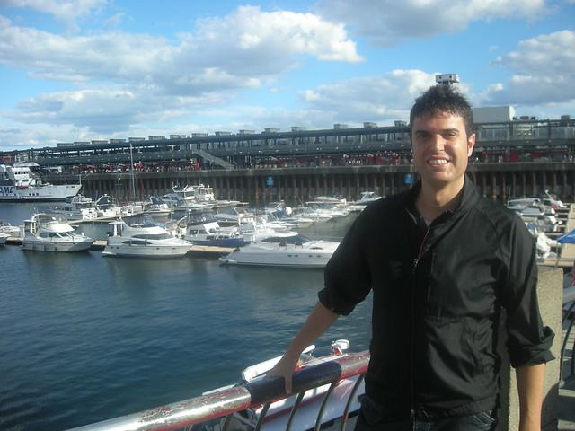 Yo en el viejo puerto de Montréal
