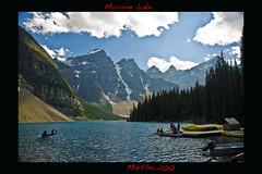 Moraine Lake (MGunawan) Tags: summer boat kayak beautifulscenery morainelake canadianrockies