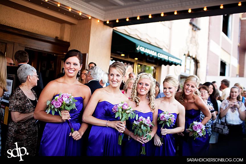 Emporia, Kansas Granada Theater wedding photography