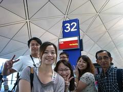 香港機場的大合照