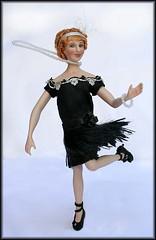Roxie Hart doing the Charleston.Lucie Winsky Dolls http://luciewinskydolls.com I.G.M.A. Artisan Certified D.A.G. Doll Artisan