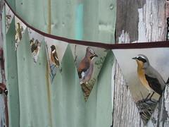 Vintage bird paper bunting (Heart felt) Tags: birds vintage paper illustrations books garland retro bunting