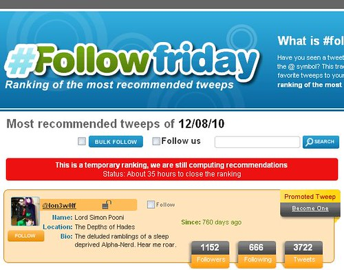 follow friday, twitter