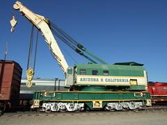 ARZC Crane Parker AZ 4 Aug 2010 (AA654) Tags: railroad arizona crane rail az railcar parker 1000000railcars arzc