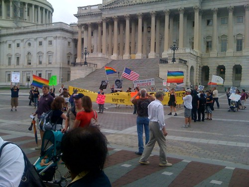 Equality supporters at the US Capitol