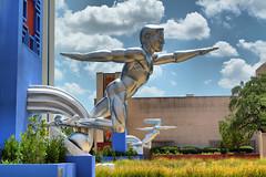 Fair Park HDR 2 (MattyV53) Tags: sculpture statue metal silver dallas texas statefair hdr statefairoftexas fairpark dallastexas top20texas matthewvisinsky mattyv53 mattvisinsky
