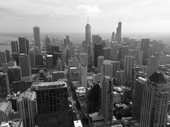 Chicago Skyline (Jay Nigim) Tags: sky usa lake chicago streets tower night america skyscraper john us illinois downtown michigan sears united great north lakes center observatory states hancock willis cotcpersonalfavorite
