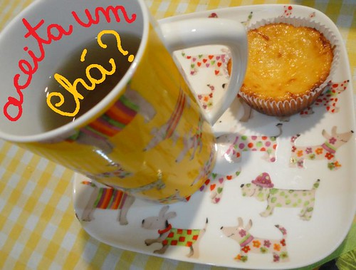 Chá e queijadinha