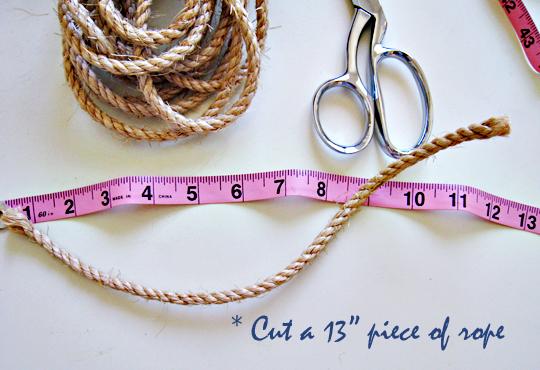 Rope Napkin Rings DIY-Beach Table Decor -1