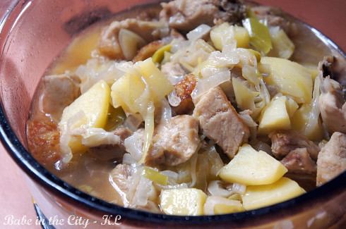 Leek and Potato Siew Yuk Stew