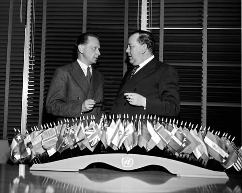 Dag Hammarskjöld with Trygve Lie