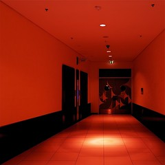 Albtraum (Postsumptio) Tags: road door red house building floor emotion fear elevator dreaming activity deadend ptlens singlecolor cornerofaroom